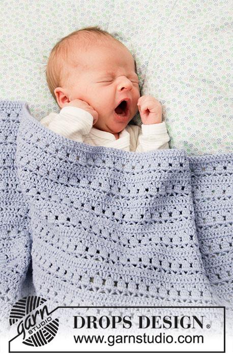 Fremragende Hæklet tæppe til baby | Sleepyhead by DROPS Design ZK18